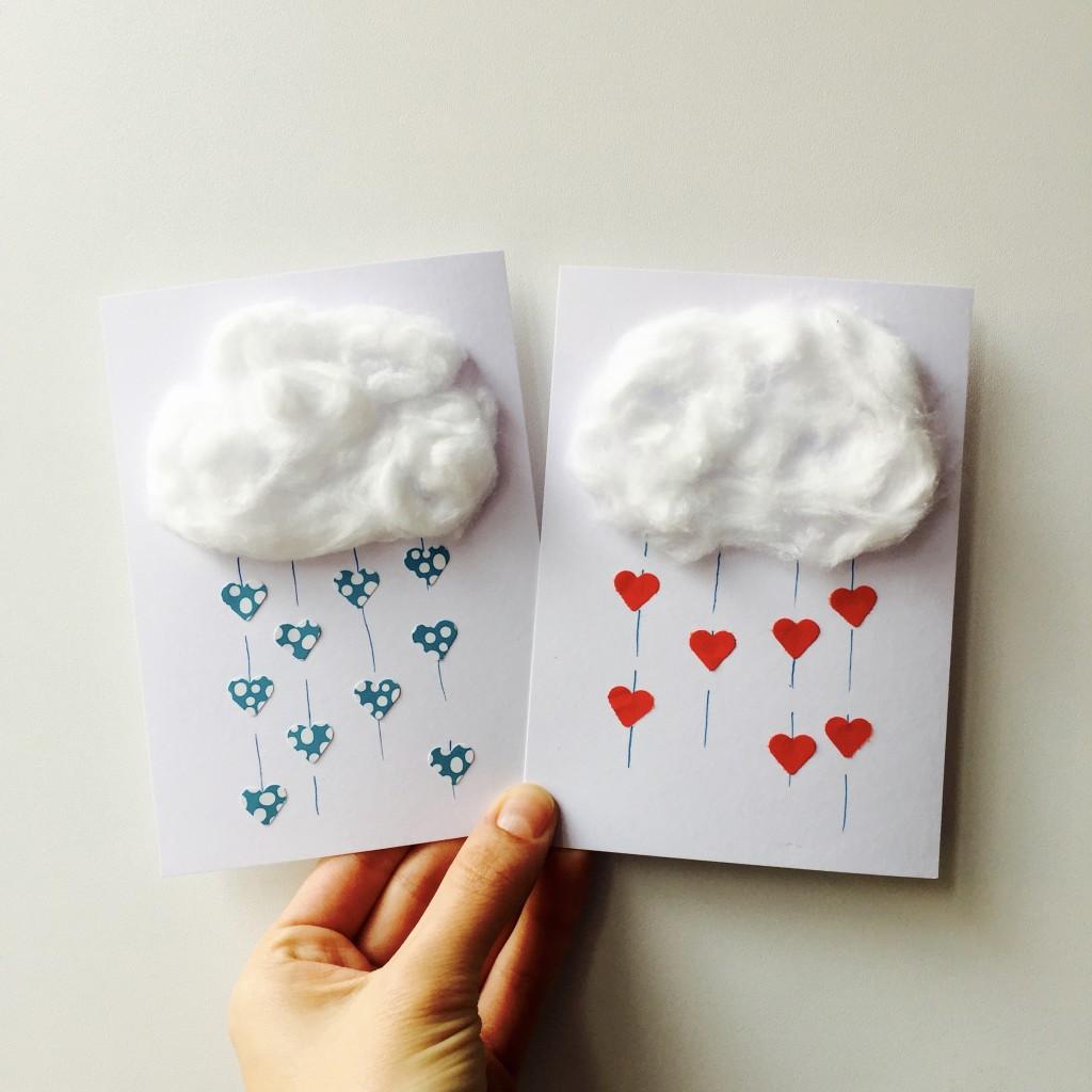 Valentine's Day card, crafts, diy stationary / Valentijnskaartjes maken, gratis printable, 'Ik zie je door een roze bril' // VAN BRITT
