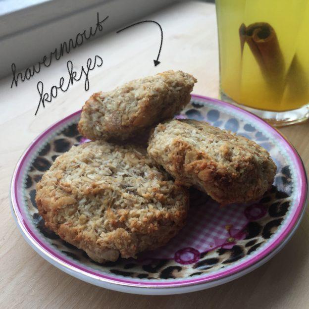 Havermoutkoekjes met kokos en banaan / Oatmeal cookies with coconut and banana / VAN BRITT
