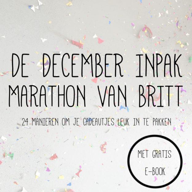Inpak marathon, gratis E-book 'Feestelijk Inpakken' // VAN BRITT
